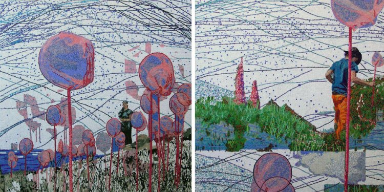 Liza Grobler: Beaded panels