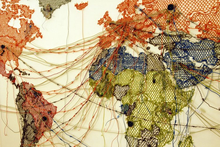 Reena Saini Kallat: Untitled (Map/Drawing)