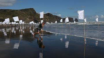 Hector Zamora: White noise I, II