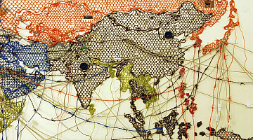 Reena Saini Kallat: Untitled (Map/Drawing)